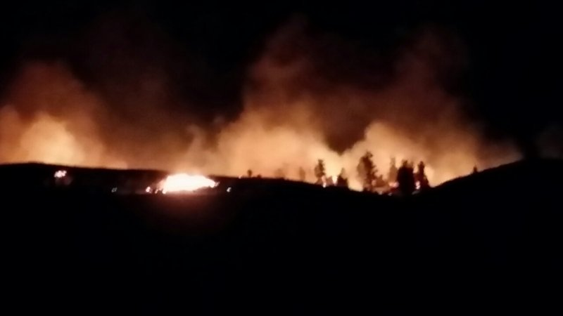 Fire South Caribou Point Across U.S. Border